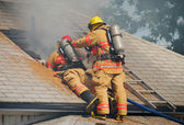 Attic Fire — Stock Photo