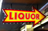 Liquor Sign — Stock Photo
