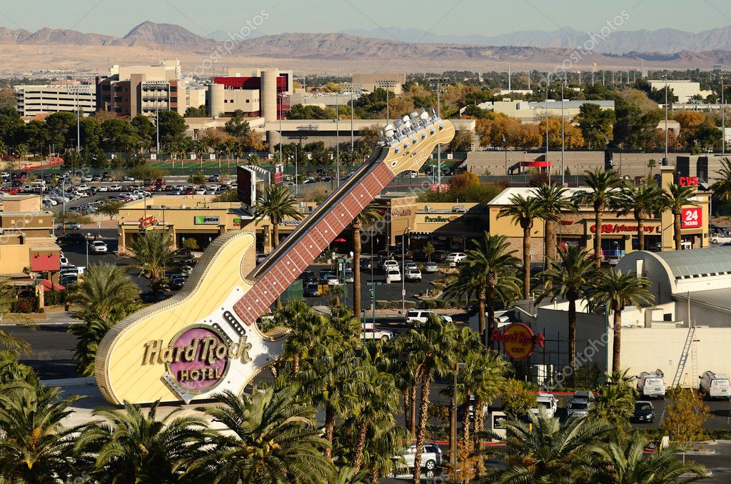 Hard Rock Hotel guitar sign in Las Vegas Nevada — Stock Photo #9816809