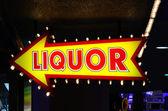 Alkohol znamení — Stock fotografie