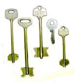 Eight old rusty keys — Stock Photo