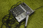 Mixer and Vocal Microphone — Stock Photo
