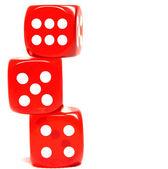Three dices — Stock Photo