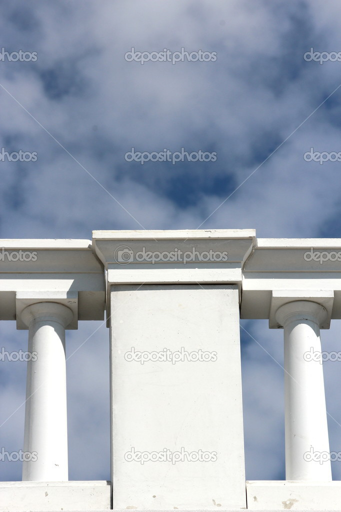 An white railing — Stock Photo #10674890