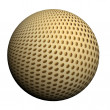 Wunderful 3d ball with a picture of a grid — Stock Photo