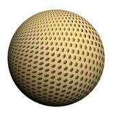 Wunderful 3d ball with a picture of a grid — Stockfoto