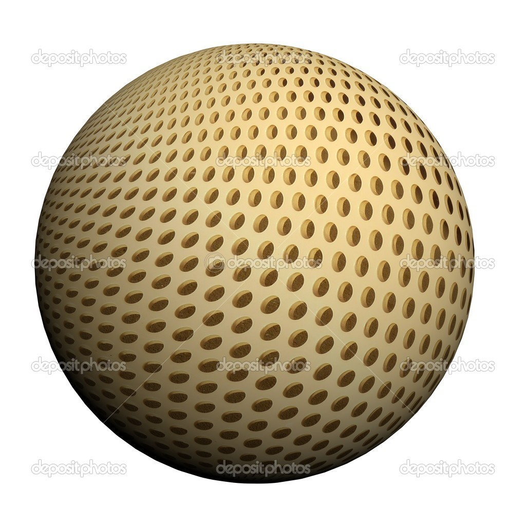 Wunderful 3d ball with a high quality picture — Stock Photo #9680477