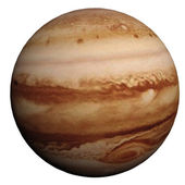 This nice 3D picture shows the planet jupiter — Stock Photo