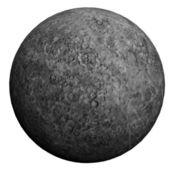 Den här fina 3d bilden visar planeten mercure — Stockfoto