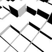 Schöne weiße würfel mit schatten — Stockfoto