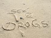 секс и наркотики на пляже — Стоковое фото