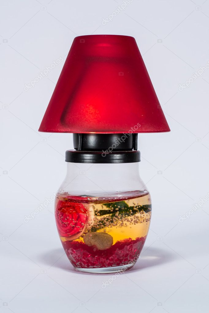 Isolated candle holder with candle. — Stock Photo #10244690
