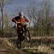 KTM 525EXC in Action — Lizenzfreies Foto