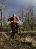 KTM 525EXC in Action — Stock Photo