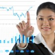 Businesswoman looking at a finance chart — Stock Photo #10353399