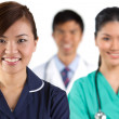 Portrait of a happy team of Doctors — Stock Photo