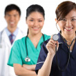Portrait of a happy team of Doctors — Stock Photo #10365178