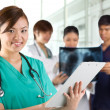 Asian healthcare workers. — Stock Photo