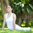 Asian Woman performing yoga — Stock Photo #10394580