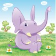 Baby Elephant — Stock Vector