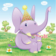 Baby Elephant - Party — Stockvektor #10016322