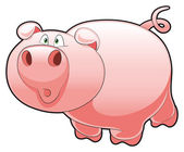 Baby Pig. — Stock Vector
