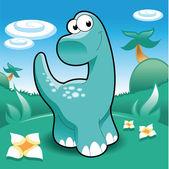 Brontosaurus. — Stock Vector