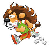 Runner Lion. — Stock Vector