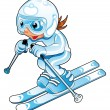Royalty-Free Stock Vector Image: Baby Skier