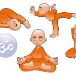 Yoga Positions — Stock Vector