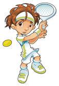 Joueuse de tennis bébé — Vecteur