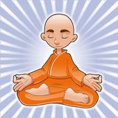 Yoga Lotus. — Stock Vector
