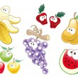 Fruit Characters. - Stock Vector