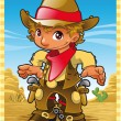 Little Cow Boy — Stock Vector #10069563