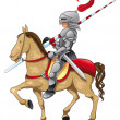 Knight and horse. — Stock Vector #10069860