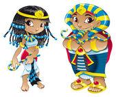 Cleopatra and Pharaoh — Stock Vector