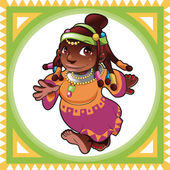African Lady — Vector de stock