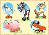 Farm Baby Animals. — Stock Vector