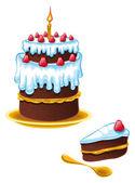 Cake Birthday — Stock Vector