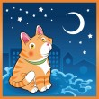 Baby cat in night — Wektor stockowy #10366088