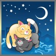 Baby cats in night — Stock Vector #10366100