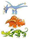 Dinosaurios monstruos. — Vector de stock