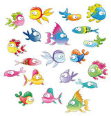 Family of fish. — Stock Vector