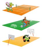 Sport and Animals — Stock Vector