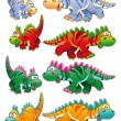 Stock Vector: Types of dinosaurs.