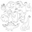 Dinosaurs Family. — Stock Vector