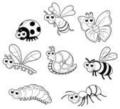 Insectos + 1 caracol. — Vector de stock
