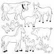 Farm animals. — Stock Vector