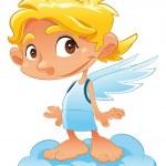 Baby Angel. — Stock Vector