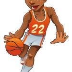 Basketball boy. — Stock Vector